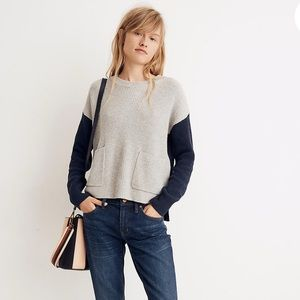 Madewell Patch Pocket Pullover Sweater Colorblock